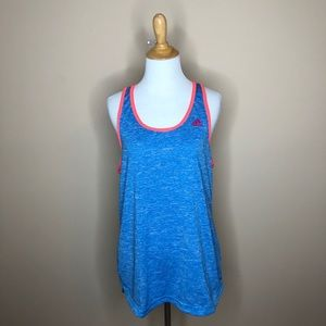 Adidas blue hot pink accents Racerback tank top